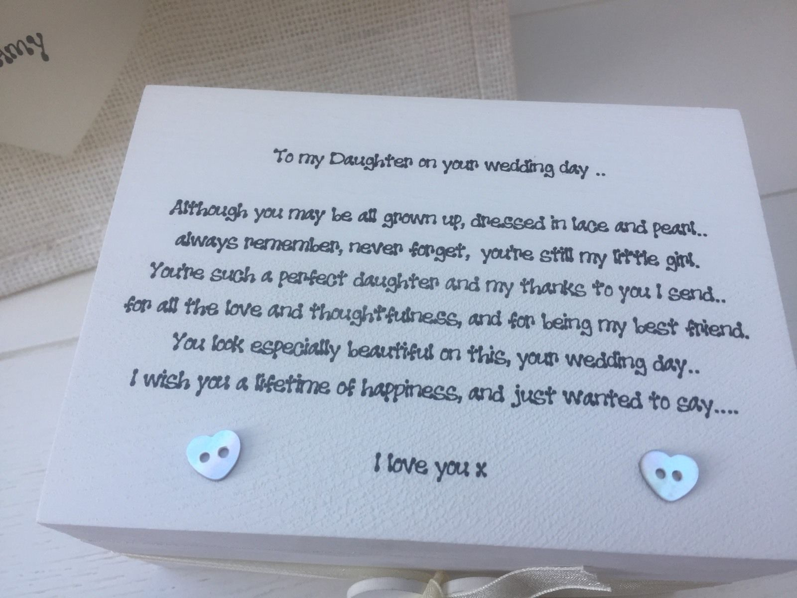 Father Daughter Wedding Gifts: Shabby Personalised Chic Daughter On Her Wedding Day Gift